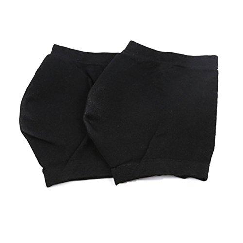 ROSENICE Calcetines Fascitis Plantar con Taloneras de Gel Incorporada Negro 1 Par Talla M