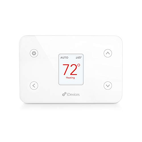 iDevices IDEV0005AND5 FBA_2843481 Wi-Fi Smart Thermostat, Works with Alexa, White (Package May Vary)