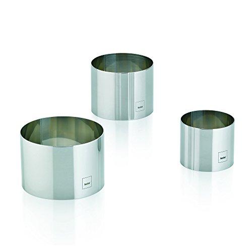 Kela 10785 Dessertring-Set, 3 Ringe, 6/ 7,5/ 9 cm Durchmesser, Rund, Rostfreier Edelstahl, Decore
