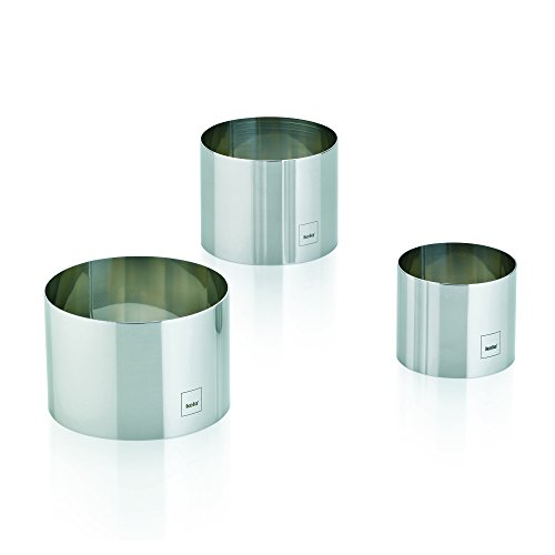 Kela 10785 lot de 3 emporte-pièces ronds, inox, 3 diamètres : 9 - 7,5 - 6 cm, 'Decore'