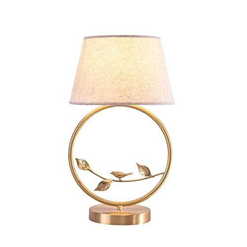 Modern skrivbordslampa,Nattdukslampa,Viktoriansk bordslampa,Handgjord tyg lampskärm Metall koppar skrivbordslampa,Knappbrytare,för vardagsrum för sovrum,E27 lampa,45 * 25cm