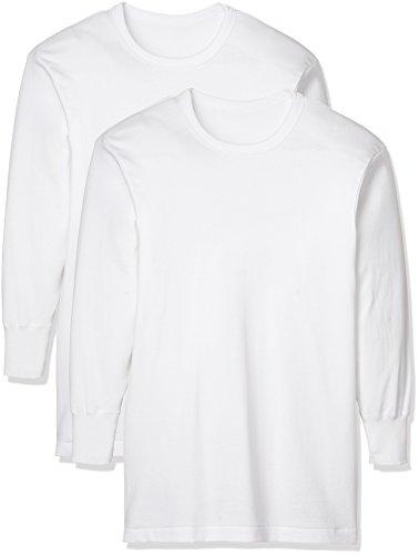 [グンゼ] インナーシャツ やわらか肌着 綿100% 抗菌防臭加工 長袖丸首 2枚組 SV61082 メンズ ホワイト 日本M (日本サイズM相当)