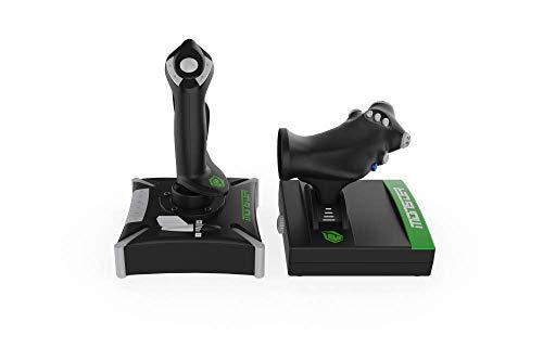 Monster Pusat Pro Flight Stick: Ergonomischer Joystick für den Flugsimulator, Controller mit Vibrationsfunktion für Simulator-Spiele - rutschfest, PC-kompatibel