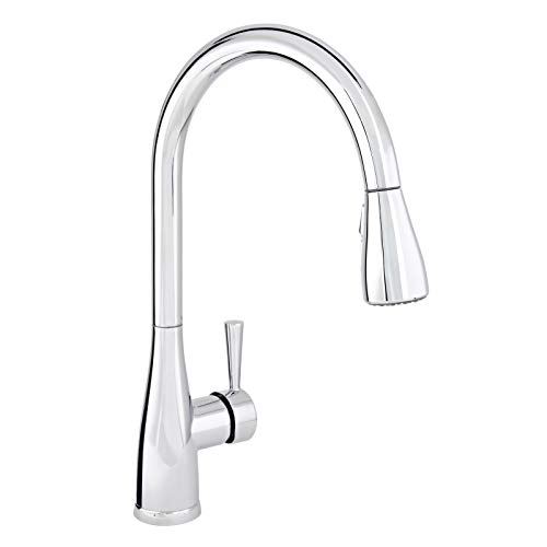 Mirabelle MIRXCCA100CP Mirabelle MIRXCCA100 Pullout Spray Kitchen Faucet with High Arch Gooseneck...