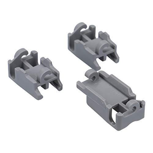 DL-pro Halter Lager Set für Oberkorbablagen für Bosch Siemens Neff 00418674 Geschirrspüler Spülmaschine 3Stk