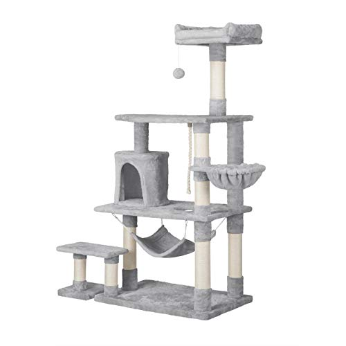 YAHEETECH 61.5in Multi-Level Cat Tree Tower Condo with Scratching Posts, Removable Platform &...