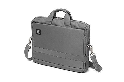 Moleskine ID - Bolsa horizontal para dispositivos, color gris (Slate Grey) 15.4 inches