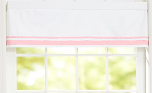 Just Born Window Valance, Pink/White