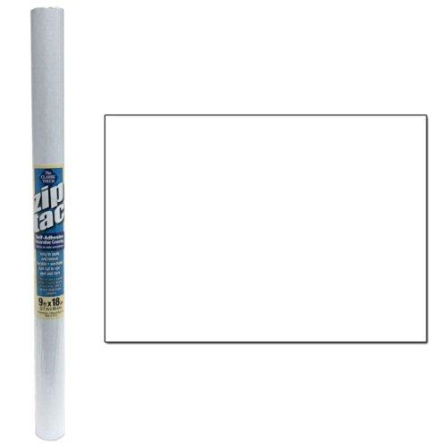 Zip Tac Self-Adhesive Shelf Liner 9ft x18 in. - White