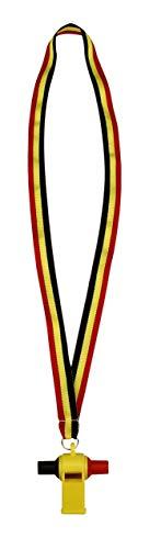 Schreuders SportAvento Plastic Samba Whistle - Fischietto di plastica, Unisex, Avento, Black/Yellow/Red, Universale