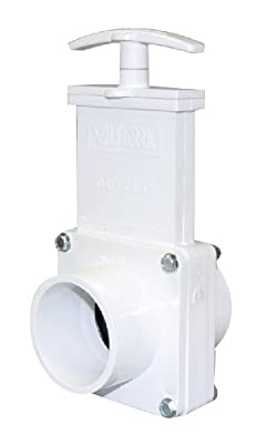 """Valterra 6203 PVC Gate Valve, White, 2"""" Spig by Valterra Products"""