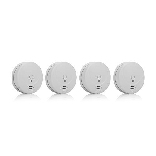 Detectores de humo Smartwares RM149/4 – Pack de 4 detectores – Batería incluida – Botón de prueba – 85dB