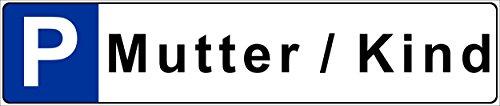 Stickers schild - moeder/kind - kentekenplaat kenteken kenteken parkeerplaat park bord - 52x11cm - S00019T +++ in 5 varianten verkrijgbaar