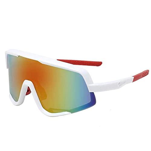 PJKKawesome Gafas De Deportivas, Gafas De Ciclismo De Protección Uv400 para Hombres, Gafas Protectoras para Los Ojos Aire Libre con 3 Lentes Intercambiables para Montar