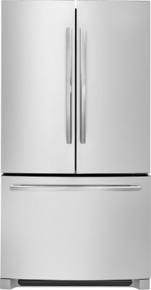 "Frigidaire FDBG2250SS 36"" Counter Depth French Door Bottom Mount Refrigerator with 22.4 Cu. Ft. Capacity Flush LED Lighting Clear Door Bins and 4 Spill Safe Shelves: Stainless"