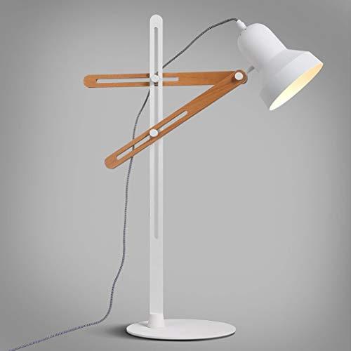 ViewSys Lámparas de Mesa, Personalidad Simple nórdica Oficina Estudio Dormitorio Escritorio se Ilumina la lámpara de Escritorio Ajustable, la Lectura del Arte luz de la Noche