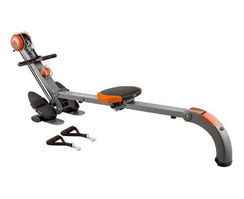 Body Sculpture BR3010 Rower and Gym | Adjustable Resistance | Built-in-Gym | Folds | Free DVD | Track Your Progress | More