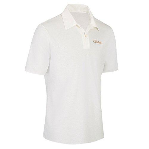 TanMeOn Durchbräunendes Poloshirt für Herren Poloshirt braun werden, Ideal für Golf, Radsport und Freizeit. Farben: Weiss, blau oder grau, Größen S, M,L, XL, XXL (Weiß, M)