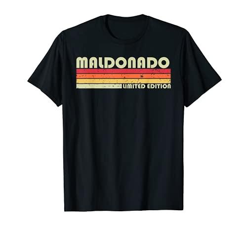 MALDONADO - Reunión de cumpleaños retro vintage de los años 80 Camiseta