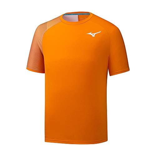 Mizuno Shadow Tee T-Shirt Homme, Oriole, L