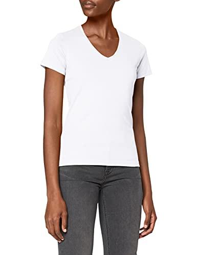Stedman Apparel - Classic-t V-neck/St2700, T-Shirt Donna, Bianco, 42 (Taglia Produttore: XL)