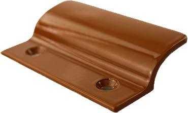MS Beschläge® Balkontürgriff Terassentürgriff Ziehgriff aus Aluminium (Golden Oak - RAL 8003)