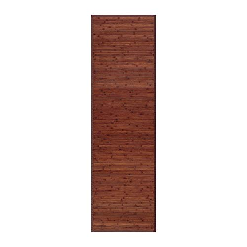 Alfombra pasillera Industrial marrón de bambú de 60 x 200 cm Factory - LOLAhome