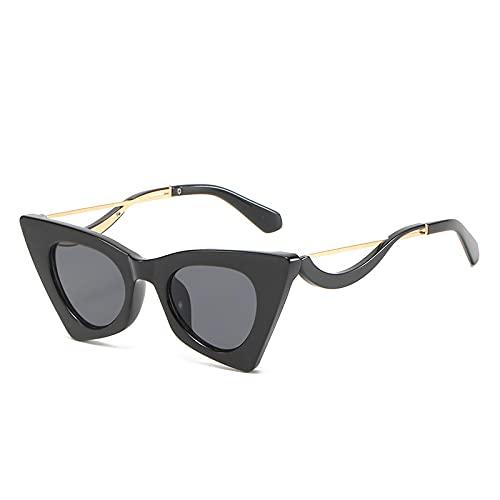 WANGZX Gafas De Sol Retro con Forma De Ojo De Gato Gafas De Moda para Mujer Gafas De Sol Transparentes para Hombre Gafas De Sol De Moda para Disparar En La Calle Uv400