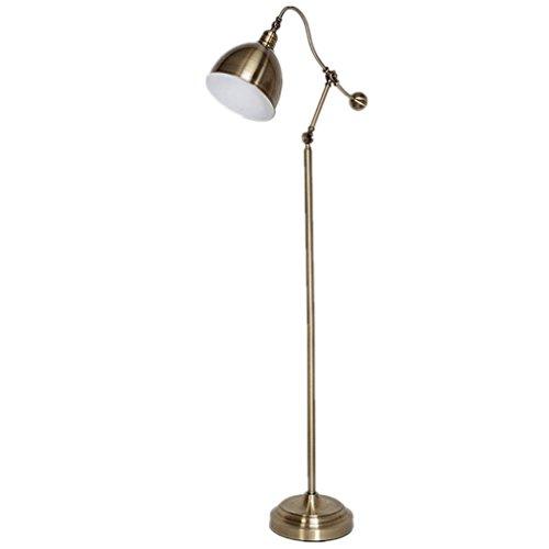 Edge to staande lamp, vintage, bronskleuren, voor woonkamer, staande lamp, kamerlamp, tafellamp, vloerlamp, Europees ijzer, creatief, opvouwbaar, eye-fold