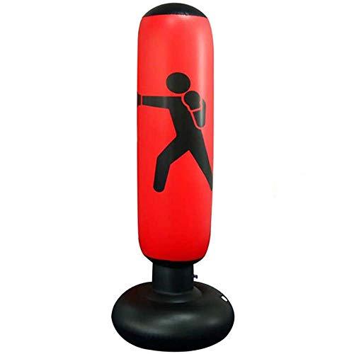 Ecent Saco de Boxeo de pie Inflable Saco de Boxeo Independiente Ejercicio físico Alivio del estrés para niños Adultos, Karate, Fitness, etc. - 160 cm