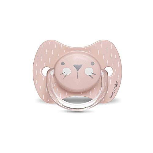 Suavinex - Chupete premium para bebés 0-6 meses. Chupete con tetina fisiológica de silicona. 0% BPA. Color rosa.