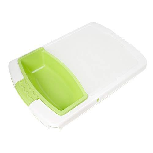 ZYL-YL Tabla de cortar de plástico, colador grande sobre fregadero con colador y extensión extralarga, bloque de cortar multifuncional 3 en 1 extraíble (verde)