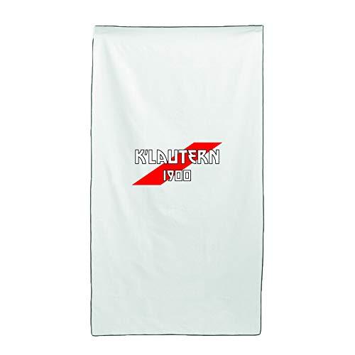 Tipolitografia Ghisleri Handtuch, Strandtuch Handtuch weiß Flagge K'lautern 70 x 140 cm