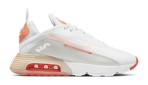 Nike Air Max 2090 - Zapatillas deportivas para mujer, White Crimson Tint, 38.5 EU