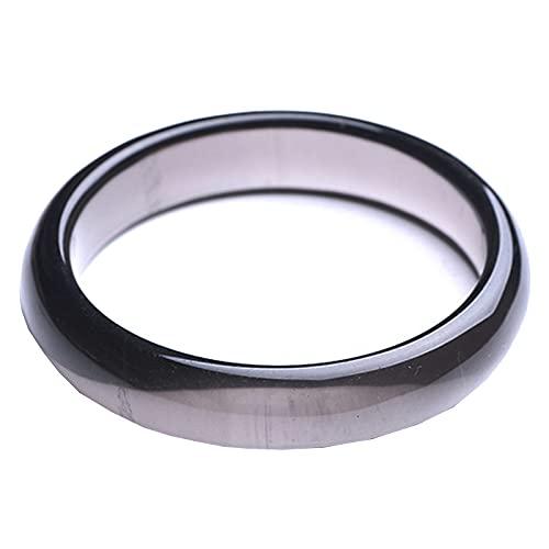 J.Memi's Pulseras Obsidiana Negra Piedra Natural, Piedras Preciosas Gemas Bracelet Cuff Protección Joyas, Riqueza Trae Suerte Accesorios,Inner Diameter: 58~60mm