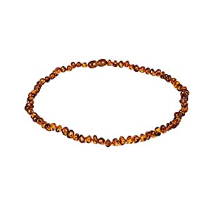 AMBERAGE Natural Baltic Amber Necklaces for Women - Hand Made from Polished/Certified Baltic Amber Baroque Beads/Quality Guaranteed (3 Colors)
