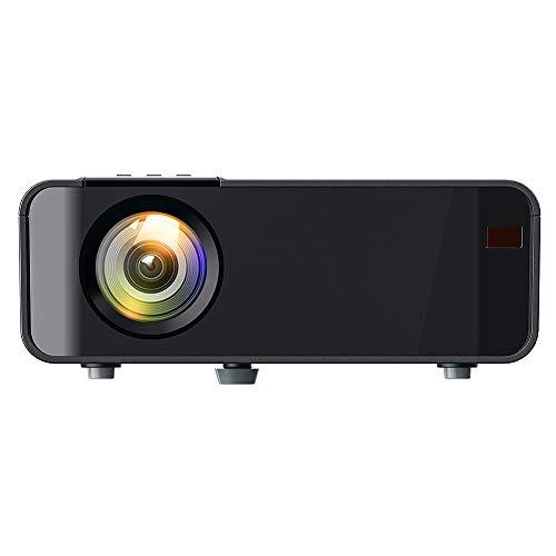 Goshyda Proyector portátil, Full HD 3D 1080P LED Red inalámbrica, TV Video Cine en casa Cine Cine Proyector Inteligente, HDMI, VGA, USB Dual, AV, para computadora portátil, teléfono Inteligente(EU)