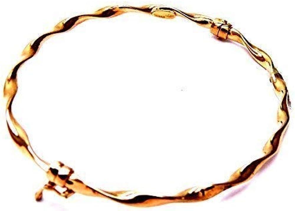 Pegaso gioielli bracciale rigido per donna in oro rosa 18kt/ 750