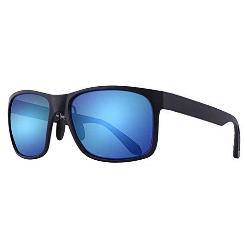 FDSJKD Square Oversized Polarized Sunglasses Heads Men Retro Vintage Sun Glasses UV Protection Fishing Eyewear Polarised Protection Driving Travelling (Lenses Color : C2 blue)