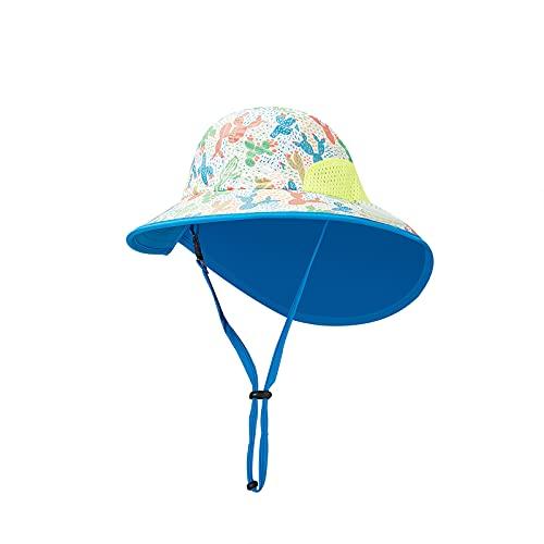 KEXIJIA Jungen Sonnenhut Verstellbarer Hut mit breiter Krempe Sonnenschutz für Baby Mädchen Säugling Kind Kleinkind Unisex