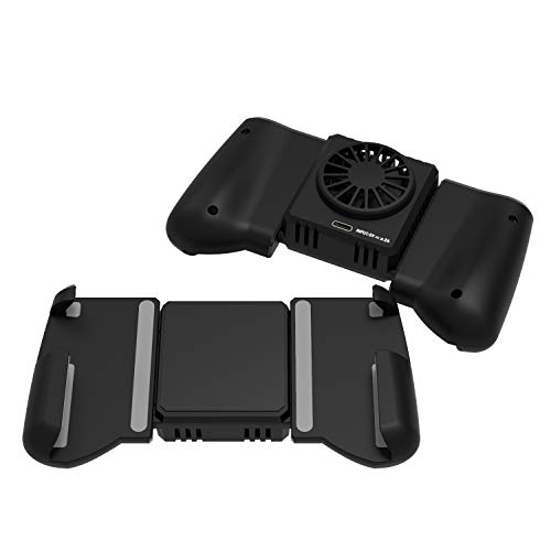 DarkWalker Call of Duty Mobiler PUBG Mobile Game Controller, Schnelles Kühlgebläse Radiator Gamepad für iPhone / Samsung / HuaWei Unterstützung 4-6,7 Zoll Smartphone