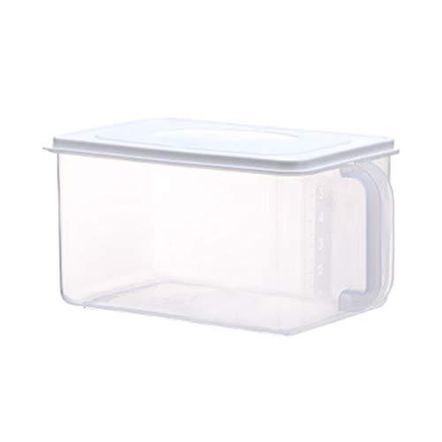 DANDANdianzi 6,2-Liter-Kunststoff-Kühlschrank Aufbewahrungsbox Lebensmittel Keeping Box Obst frisch Frische Organizer Obst Home Kitchen Container