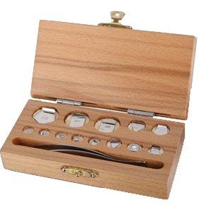 Kalibriergewichtssatz: 1mg-500mg inkl. Holz-Koffer/Genauigkeitsklasse M1 Prüfgewicht Edelstahl Gewicht G&G