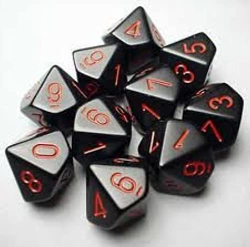 10-sided Dice  Opaque schwarz by Chessex Dice
