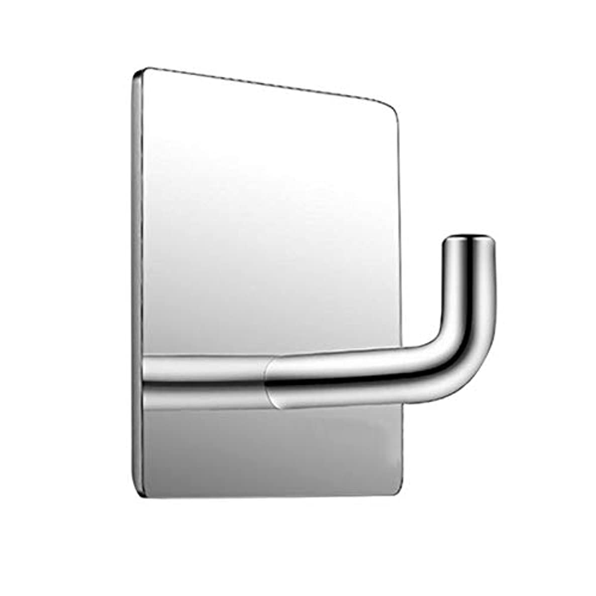Hook Kitchen - 1 Pc Wall Hook Rectangle Mirror Polish Stainless Steel Hanger Adhesive Hanging - Wall Wall Mirror Metal Hook Decor Stick Pvc Hook Mirror Vinyl Tile RackMirror Hook Mi