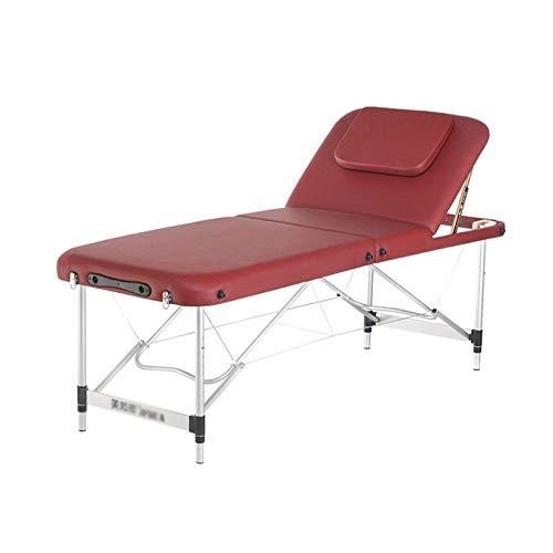 RTYUIO Mesa de Masaje Cama de Masaje Plegable, Cama de Fisioterapia de moxibustión con Terapia de Fuego Ajustable, Cama de Belleza portátil de Aluminio para el hogar (Tamaño: 60 cm / 23,6 '')