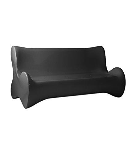 Vondom - Sofá suave, color gris antracita brillante