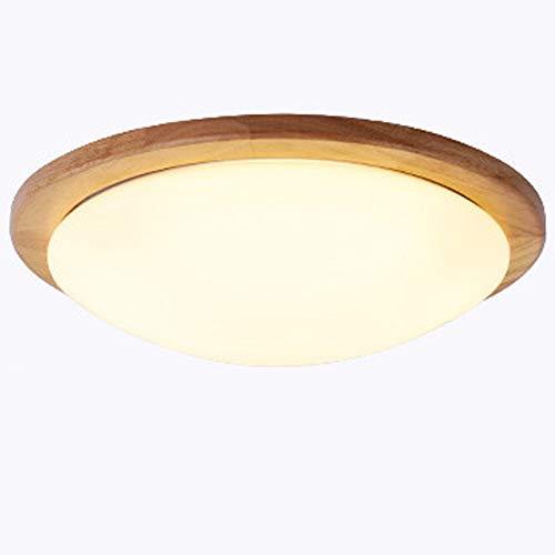 SSBOY 8W LED Plafón de Madera Redonda Φ28cm Iluminación de Techo de...