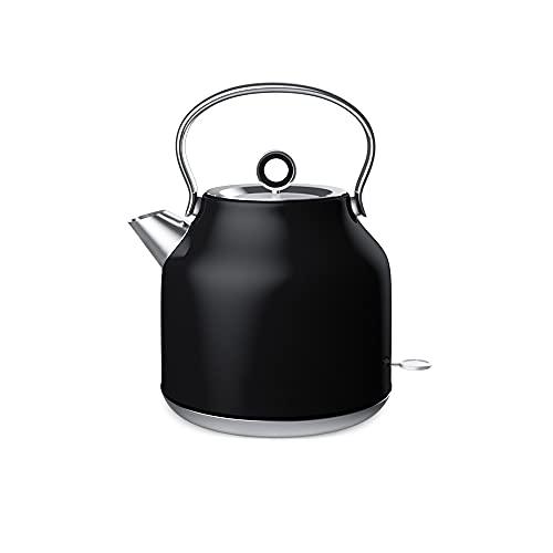 CJSWT Hervidor eléctrico de vertido para café y té, Negro, calefacción rápida de 1800 vatios, Apagado automático Incorporado, Capacidad de 1.7L