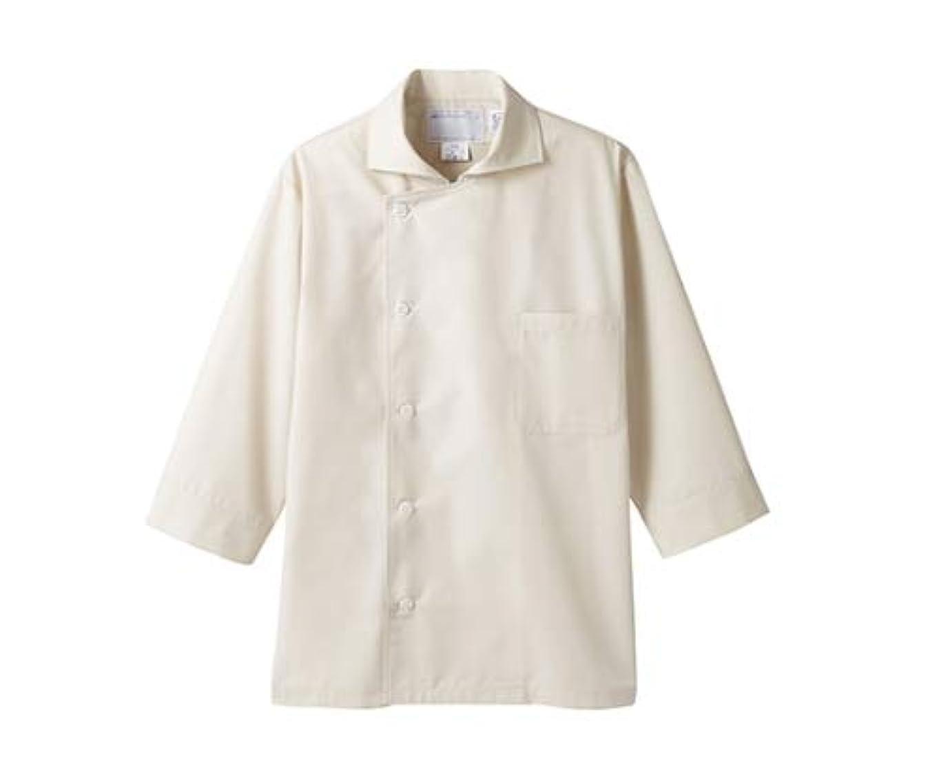 ボトルネック縫うロックコックシャツ兼用 7分袖 ベージュ エコ/61-6092-88